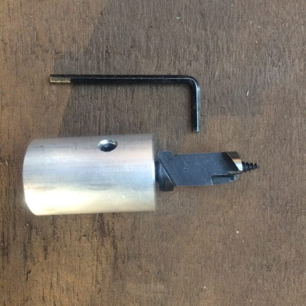 angle grinder adapter with mushroom drill bit